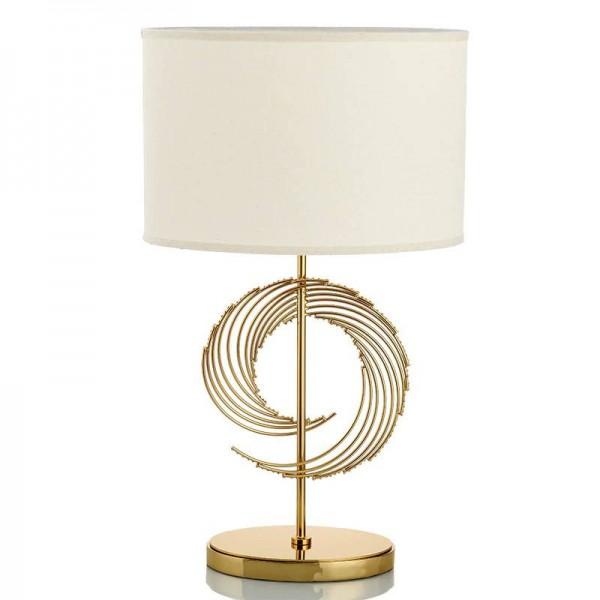 アメリカのファッションシンプルなテーブルランプメタルランプボディ布ランプシェードテーブルライトデザイナー研究寝室読書E 27ランプホルダー