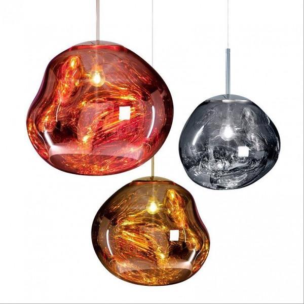 現代の銅マジック溶岩ペンダントライトトムディクソンメルトガラス透明ペンダントランプクラシックオリジナリティハングランプパーラーランプ