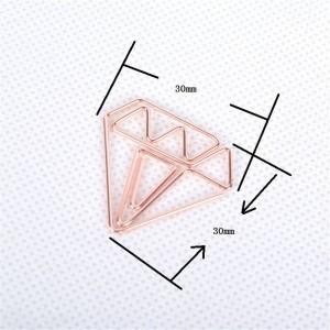 10ピース北欧オフィスメッキダイヤモンド収納クリップシックな錬鉄ゴールドミニドキュメントブックマーク収納クリップシーリングクリップ