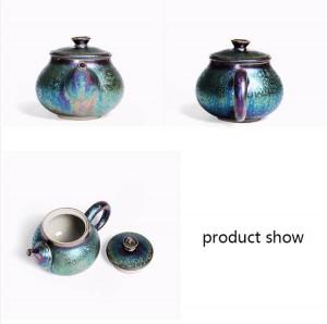 200ミリリットルクリエイティブ釉薬カラフルなセラミックティーポットアートxishiポット装飾やかんポット酒器茶器工芸品コレクションブティック