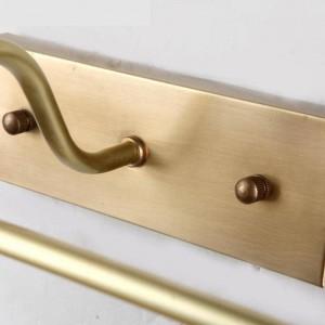 新しいデザインロングチューブ防水ミラーライトリアル銅ミラーフロントライト防錆化粧led照明器具浴室ランプ
