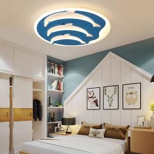 子供のシーリングライト用子供部屋調光器またはスイッチ制御現代シーリングランプ用10-15平方メートルplafondlamp