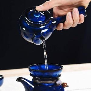 250ミリリットルクリエイティブティーポットセラミック磁器釉薬ハンドグリップポット茶やかんカンフー茶セット酒器装飾用ギフト