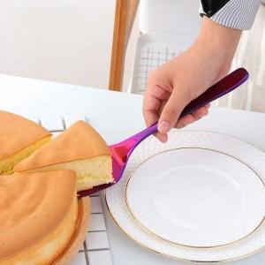 2ピースステンレス鋼の鋸歯状エッジケーキサーバーブレードカッターでケーキナイフピザケーキシャベルキッチンベーキングペストリーヘラ