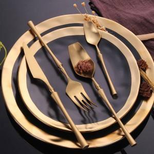 304ステンレス鋼カトラリーセットゴールド食器セット洋食カトラリー食器食器クリスマスギフトドロップ無料