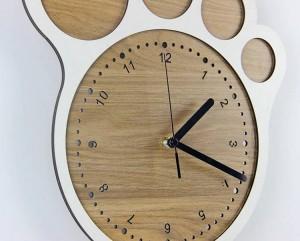 33 * 30センチシンプルアートクリエイティブ時計足の時計壁時計リビングルームの寝室のサイレントクロック壁の装飾