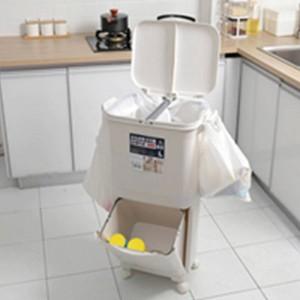 45L分類ゴミ箱PPゴミ箱ゴミ箱ゴミ箱ゴミ箱キッチン用大容量ダブルデッキゴミ箱ゴミ箱ゴミ箱