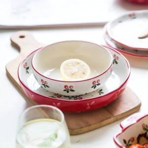 4人用ディナーセット日本の桜デザイン10ヘッドセラミック食器プレートセット