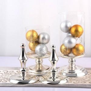 50センチ高ガラスキャンディジャーヨーロッパ高品質金属収納缶結婚式宴会テーブルデコレーションコンテナ食品収納ボトル