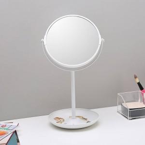6.5インチシンプル両面ミラー化粧鏡化粧台テーブルミラーデスクトップ二層収納装飾用ミラーwx 8161509
