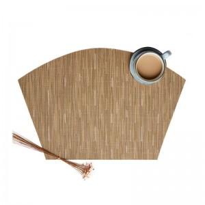 6ピース/セット扇形デザインテーブルpvc絶縁パッドノンスリップテーブルマットキッチンアクセサリー装飾ホームパッドコースターplacemats