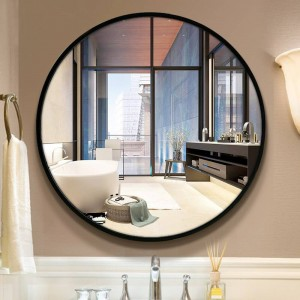 A1バスルームミラートイレ壁ミラースタイル円形の壁に取り付けられた寝室のリビングルームのトイレメイクアップミラーwx 8221848