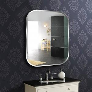 A1フレームレススクエアバスルームウォールミラートイレドレッシングテーブル洗面台ミラー寝室の壁掛けガラスミラーwx 8230936