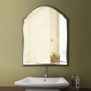 A1シンプルフレームレスバスルームミラー壁掛け寝室浴室トイレ化粧ドレッシングウォールミラーwx 8231035