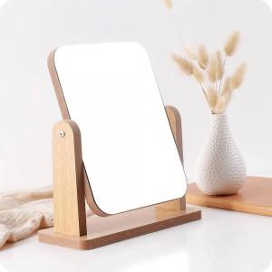 A1木製化粧鏡デスクトップ洗面化粧台ミラー寝室の美しさのミラーポータブルデスクトップミラーwx 8291750