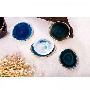 瑪瑙コースター茶碗トレイ装飾デザインストーンコースター