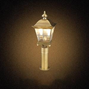 すべて銅風景照明ヨーロッパスタイルヴィラガーデンポーチE14ランプ屋外庭グラスランドランプ屋外防水照明