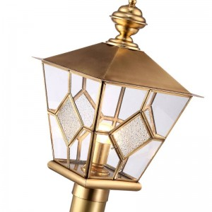 すべて銅風景照明ヨーロッパスタイルヴィラガーデンポーチE27ランプ屋外庭草原ランプ屋外防水照明