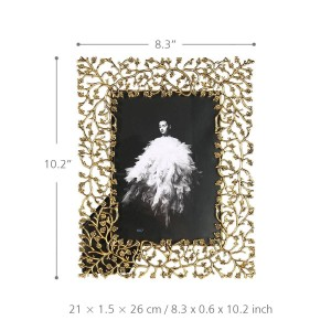 アルミ合金フォトフレームメタル額縁卓上装飾フォトフレームリアルクリアガラスのフロントカバー