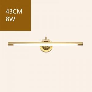 アメリカン銅ミラーフロントライト浴室用トイレledキャビネットランプ化粧吊りランプホームデコ壁取り付け用燭台照明器具