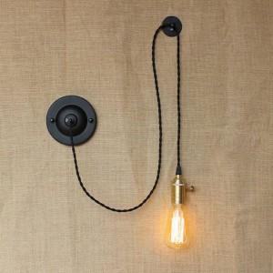 アメリカの国diyアートクリエイティブウォールランプヴィンテージ工業用壁取り付け用燭台付きノブスイッチ寝室用ベッドサイドリーディングライト