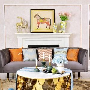 アメリカの高級大理石ボールキャンドルホルダー装飾サンプルルームテーブルホームローソク足飾りギフトガイオラスデコラティブ