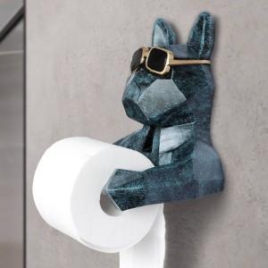 動物の頭部像置物ぶら下げティッシュホルダートイレ洗面所ウォール家の装飾ロール紙ティッシュボックスホルダーウォールマウント