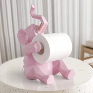 動物像クラフト装飾ロールペーパーホルダーリビングルームオフィスレストランぶら下げ紙象/鹿置物家の装飾