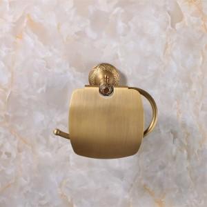 アンティークブロンズ仕上げ紙ホルダー/ロールホルダー/ティッシュホルダー真鍮建設浴室アクセサリー高品質9051K