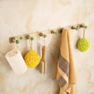 アンティーク起毛真鍮服フック浴室ハードウェアローブフック壁掛け浴室備品フック2314A