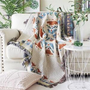 愛のオーラ投球毛布スレッドソファカバー幾何学的保護カバースリップカバーコバートール毛布ベッド用タッセルクリスマス