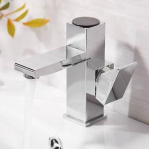 盆地蛇口浴室ledデジタル盆地蛇口水力盆地ミキサー真鍮クロームメッキ温帯ディスプレイ蛇口LAD-16589