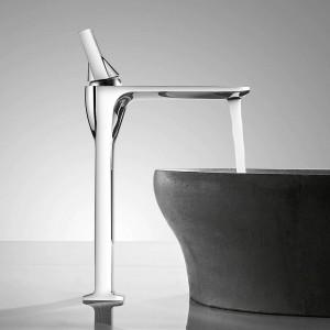 洗面台の蛇口ホワイト蛇口盆地タップ浴室のシンクの蛇口シングルハンドル穴デッキヴィンテージウォッシュホットコールドミキサータップクレーン855003