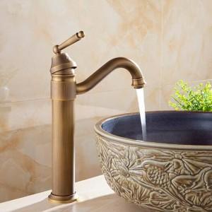 洗面台の蛇口風呂アンティーク仕上げ真鍮水道浴室の洗面台のシンクの蛇口バニティ洗面台洗面台ミキサータップクレーン6633