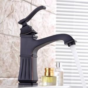洗面台の蛇口真鍮ブラシニッケル浴室のシンクの蛇口シングルハンドルデッキの取り付けられた浴槽の熱い冷たいミキサー水栓クレーン9218