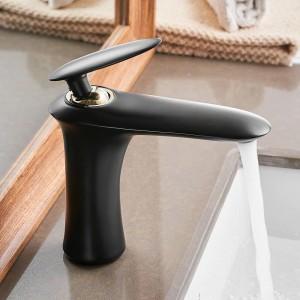 洗面台の蛇口エレガントな浴室の蛇口ホット&コールドウォーター盆地ミキサータップクローム仕上げ真鍮トイレのシンク水クレーンゴールド855735