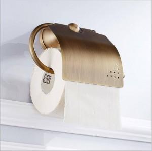 バスルームアクセサリーハードウェアブロンズトイレフル銅ヨーロッパアンティークロールペーパータオルラックトイレットペーパーホルダー9040K
