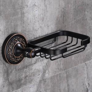 浴室ハードウェアセット現代のラウンドスタイルソープディッシュローブフック黒起毛タオルバーペーパーホルダー風呂アクセサリーセットSY111-R