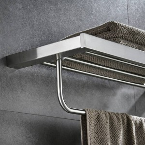 浴室用棚金属ステンレス鋼壁風呂棚ホルダー用タオルハンガータオル掛けバスルームハードウェアタオルバー610012