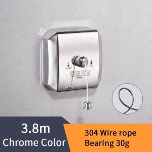 浴室用棚ステンレス鋼洗濯物ニース品質シングルラインホテルスタイル服乾燥ライン用浴室HJ-1256
