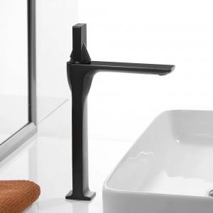 浴室のシンクの蛇口洗面台の蛇口ホワイト塗装蛇口シングルハンドル穴デッキヴィンテージウォッシュホットコールドミキサータップクレーン855003