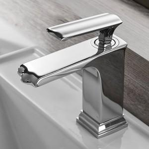 浴室のシンクの蛇口Grifoバノ盆地の蛇口黒蛇口タップシングルハンドル穴風呂ホットコールドミキサータップクレーン855085