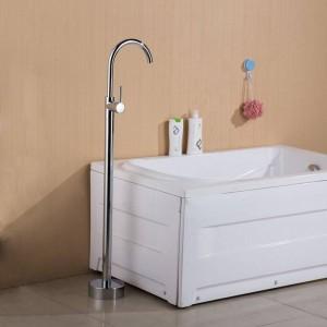 浴槽の蛇口アンティーク/ブラックフロアマウントフリースタンディングバスタブ蛇口シャワーセット浴槽フィラーミキサータップ用浴室XT379