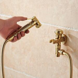 ビデ蛇口シングルコールドブラスウォールハンドヘルド衛生シャワースプレーヘッド用洗浄浴室トイレ車リンスペットエアブラシ8891