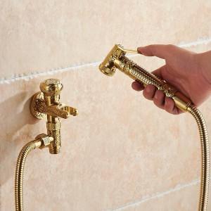 ビデ蛇口シングルコールドブラスウォールハンドヘルド衛生シャワーヘッドスプレー浴室トイレ車リンスペットエアブラシ8891K