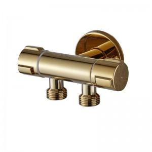 ビデ蛇口壁真鍮冷水トイレコーナーバルブハンドヘルド衛生的シャワーヘッドウォッシュカーペットスプレーエアブラシタップ1001