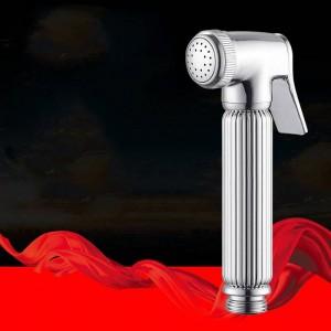 ビデ蛇口スプレーソリッドブラスクロームシルバーハンドヘルドトイレ浴室ビデ庭の蛇口ビデヘッドペットシャワースプレー0223