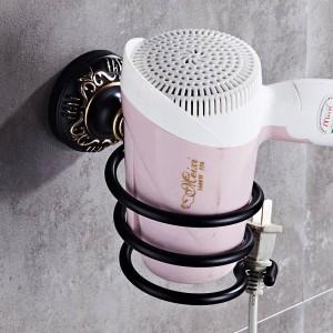 ブラック&ゴールド彫刻アルミ浴室備品風呂ハードウェアセットタオル棚タオルバーペーパーホルダー布フックBG1001シリーズ