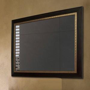 ブラックウォールナットウッドのバスルームミラー正方形の壁掛け化粧鏡リビングルームミラーwx 8221431
