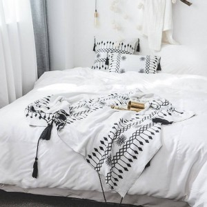 ボヘミア投球毛布ソファ装飾的なスリップカバー高級コバートールクリスマスの装飾ホーム滑り止めステッチチェック柄毛布